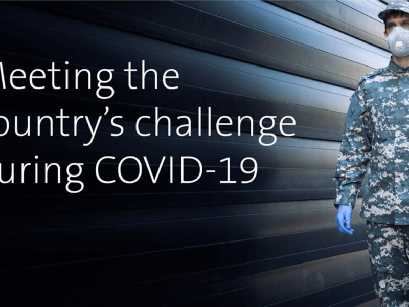 Meeting the country's challenge during COVID-19.
